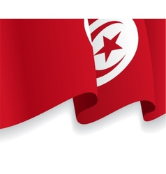 Background with waving tunisia flag vector