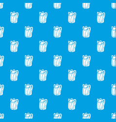backpack pattern seamless blue vector image