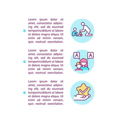 Behavior and communication approaches concept vector
