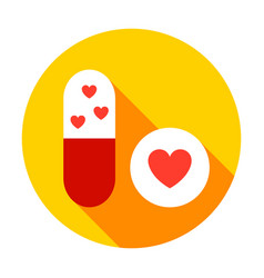 birth pills circle icon vector image