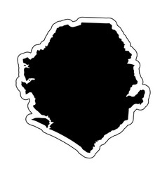Black silhouette of the country sierra leone with vector