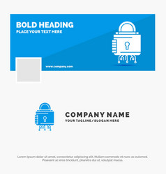Blue business logo template for security cyber vector