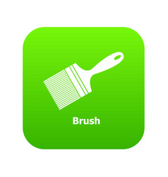 brush icon green vector image