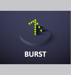 burst isometric icon isolated on color background vector image