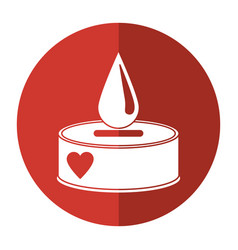 Campaing donation blood drop shadow vector