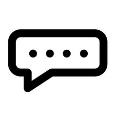 chat bubble icon outline style vector image