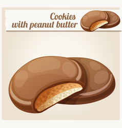 chocolaty coating covered cookies vector image