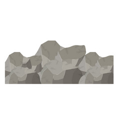Color background with big rock mountain vector