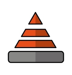 cone caution isolated icon vector image
