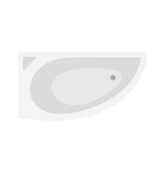 corner bathtube icon flat style vector image