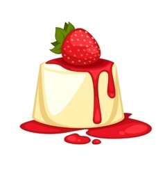 Delicious sweet dessert cartoon vector image