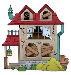 Derelict house theme image 1 vector