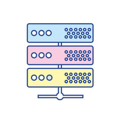 digital router to connect data center vector image