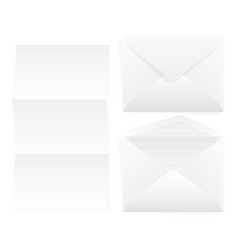 envelope paper white rectangular paper for vector image