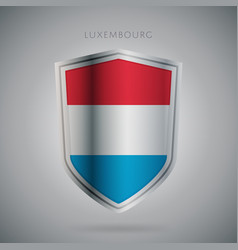 Europe flags series luxembourg icon vector