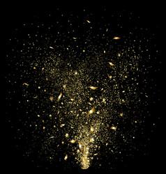 festive gold confetti vector image