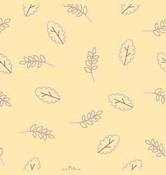 flora seamless pattern modern flat fantasy vector image
