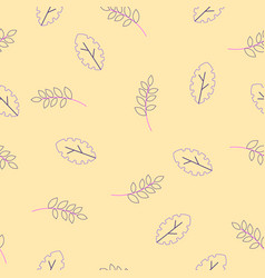 flora seamless pattern of modern flat fantasy vector image