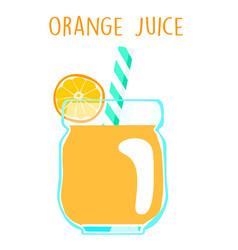 fresh orange juice on white background xa vector image