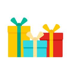 gift box set icon flat style vector image