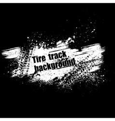 Grunge black tire track background vector image
