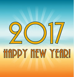 Happy New Year 2017 Greeting card New Year vector