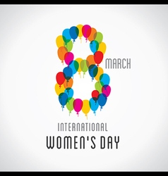 happy womens day design 8 design by balloons vector image