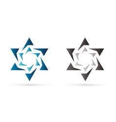 israel star modern star luxury graphic vector image