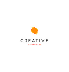 Layer media digital creative business logo design vector