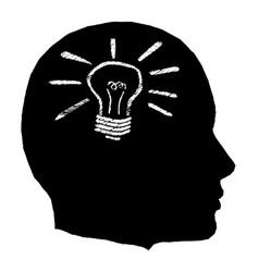 lightbulb moment vector image