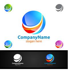 Marketing financial advisors logo design template vector