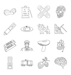 medicine cookingtaxi and other web icon in vector image