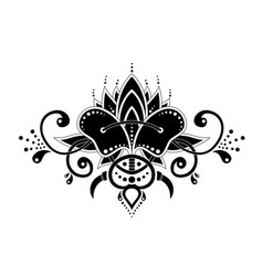 mehndi organic motif pattern for henna drawing and vector image