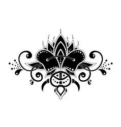 mehndi organic motif pattern for henna drawing and vector image
