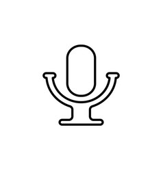 microphone line icon black vector image