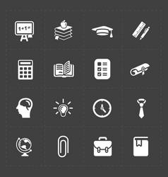 Modern flat social icons set on dark background vector