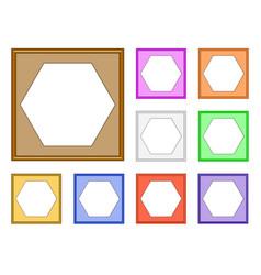 modern frame-hexagon vector image