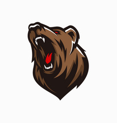 modern professional grizzly bear logo vector image