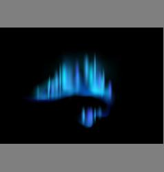 Northern lights realistic aurora borealis amazing vector