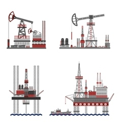 Oil Petroleum Platform Set vector