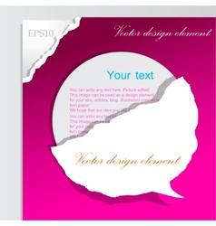 paper bubble for speech vector image