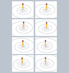 pencil drawing spiral animation sprite sheet vector image
