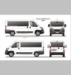 Peugeot boxer passenger van l2h1 vector