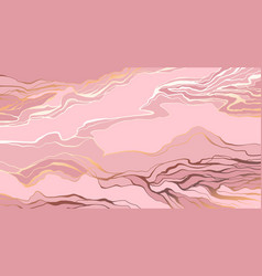 pink and blush rosy abstract marble stone design vector image
