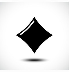 playing card diamond icon vector image