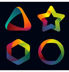 Rainbow logo templates vector
