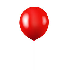 red balloon isolated white background vector image