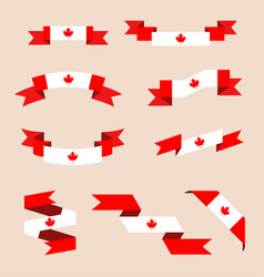 ribbons or banners in colors of canadian vector image