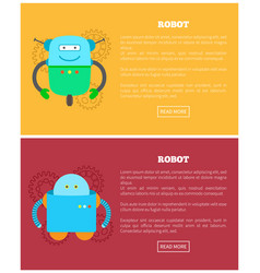 Robot collection of webs vector