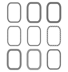 rope set of rectangular frames collection vector image